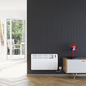 electric convector / aluminum / contemporary / rectangular