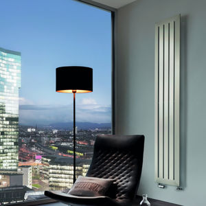 hot water radiator / electric / stainless steel / chrome