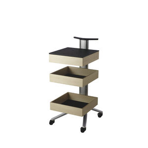commercial service trolley / for office equipment / aluminum