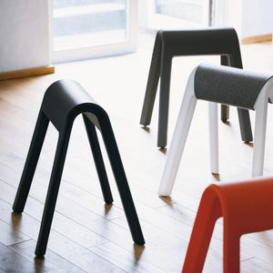 original design stool / plastic / contract / for hotel