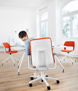 contemporary office chair / with headrest / on casters / star base
