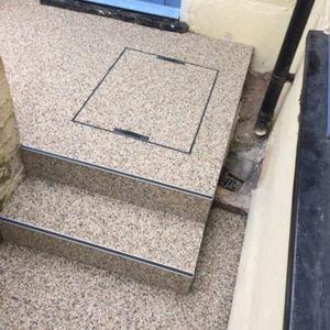 gravel step covering