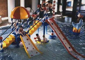 public children's pool play tower