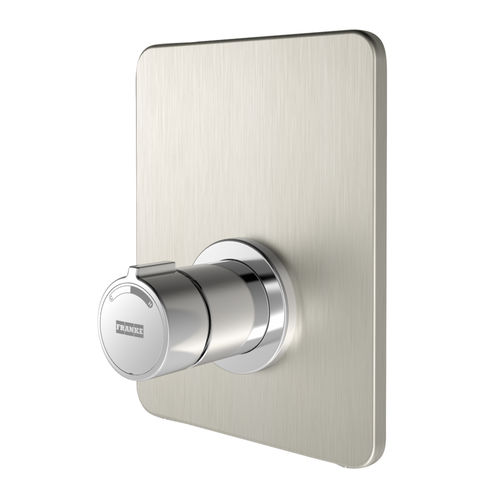 shower mixer tap / wall-mounted / chrome-plated brass / stainless steel