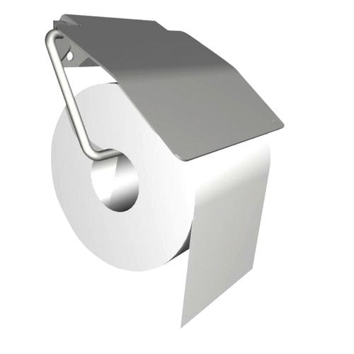 wall-mounted toilet roll holder / stainless steel / commercial