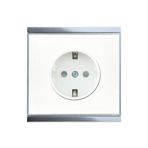power socket / wall-mounted / surface-mounted / glass