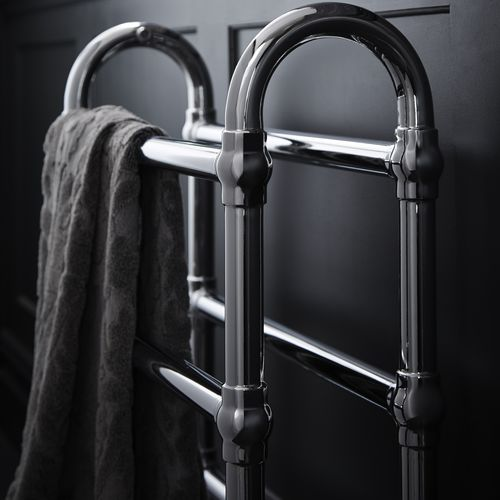 hot water towel radiator / metal / traditional / bathroom