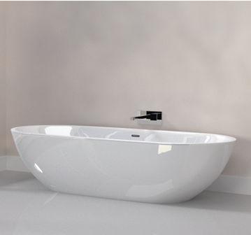 freestanding bathtub / oval / acrylic