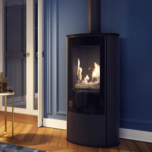 gas heating stove / contemporary / metal