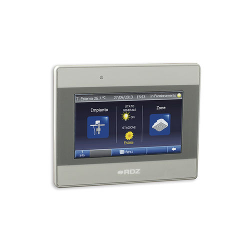 home automation system control panel / wall-mounted
