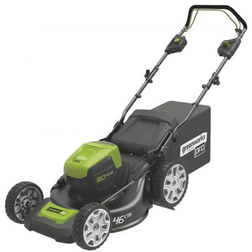 walk-behind lawn mower / battery-powered / collecting / self-propelled
