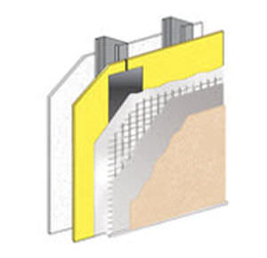 thermal-acoustic insulation / for exterior insulation finishing systems / panel / waterproof