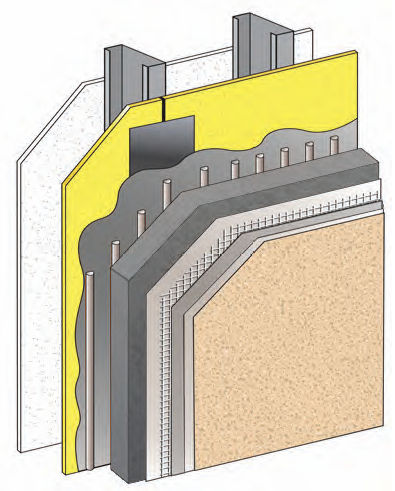 thermal-acoustic insulation / Neopor / for exterior insulation finishing systems / panel