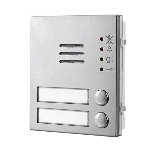 intercom module with name plate back light