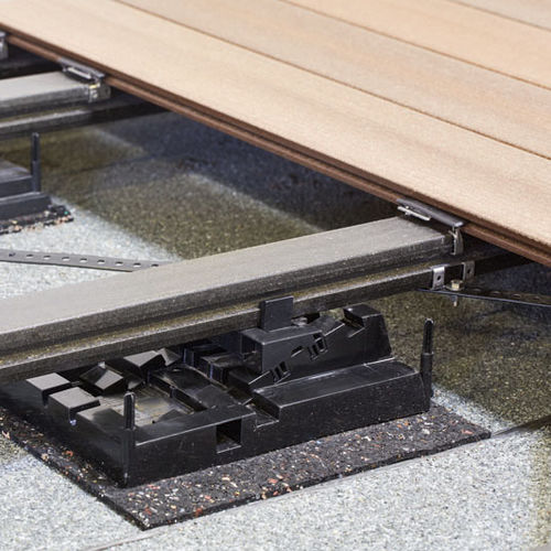 metal raised access floor structure / high-resistance / for patios