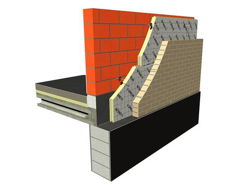 thermal insulation / polyurethane foam / wall / panel