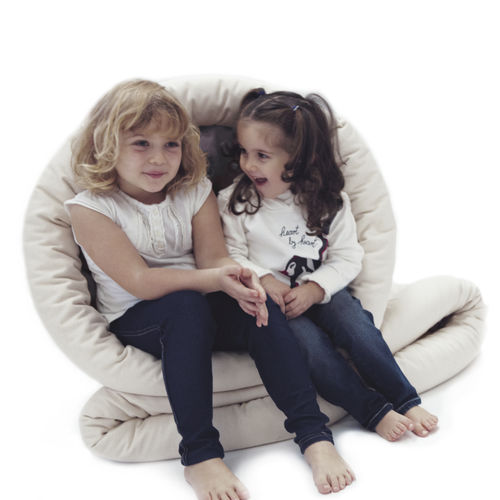 contemporary bean bag / fabric / child's / with removable cover