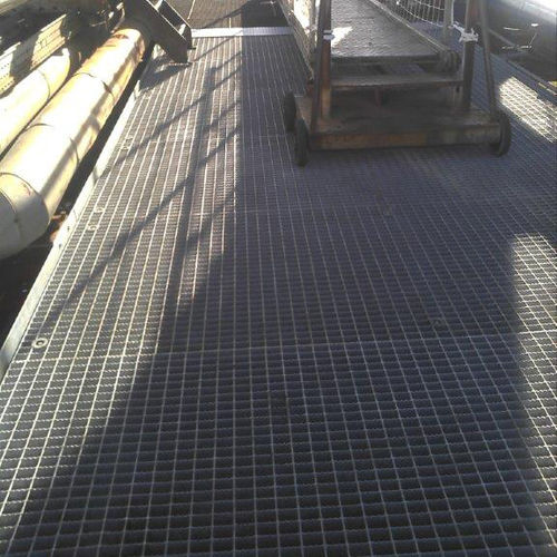 steel raised access floor / security / outdoor / grating