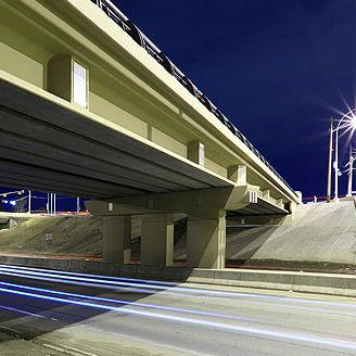 precast concrete girder / I / with symmetrical section / for bridge construction