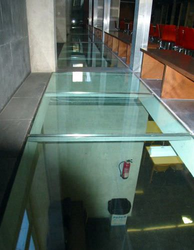 glass deck slab / for girder-slab floors / for building