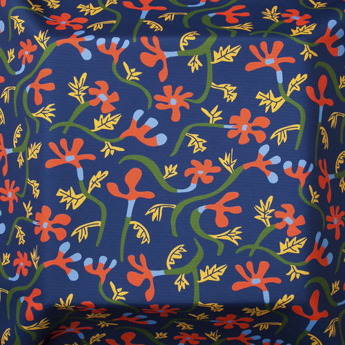 upholstery fabric / for curtains / floral pattern / acrylic