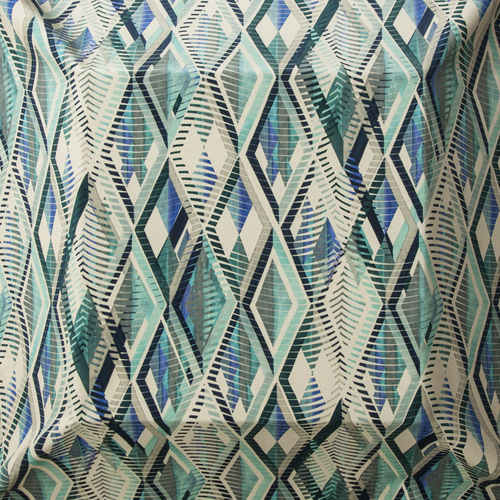 upholstery fabric / geometric pattern / polyester / cotton
