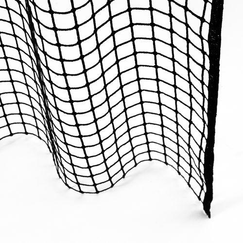 plaid sheer curtain fabric / polyester / transparent / decorative