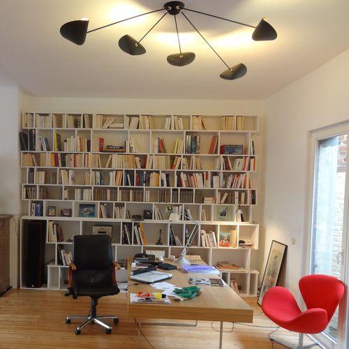 contemporary ceiling light / aluminum / steel / brass