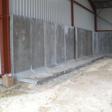 reinforced concrete wall / prefab / with modular panels