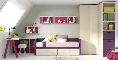 wooden children's bedroom furniture set / girl's