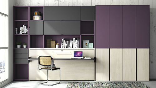wooden desk / contemporary / child's / with shelf