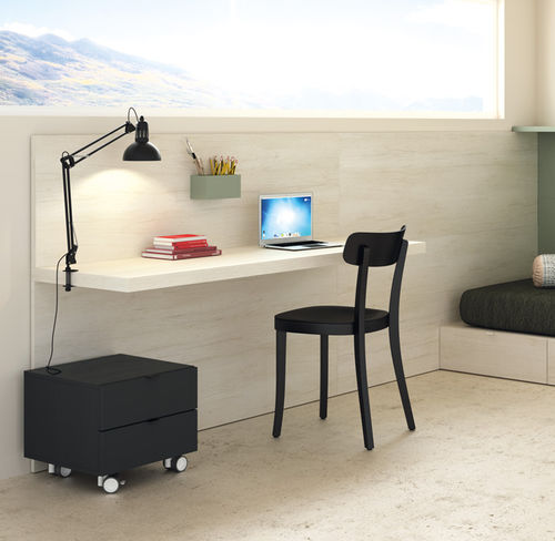 wooden desk / contemporary / child's / wall-mounted