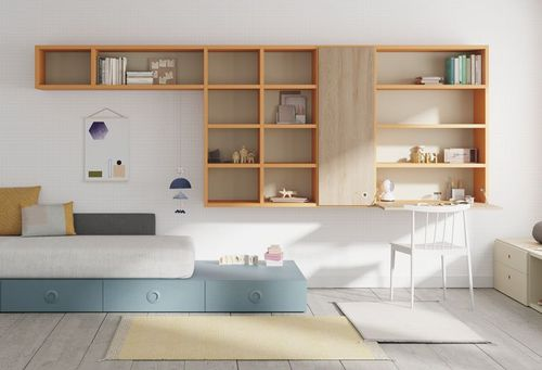wall-mounted shelf / contemporary / wooden / bedroom