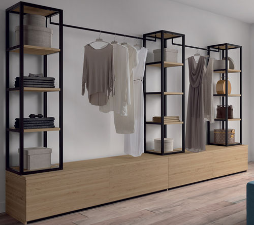 contemporary walk-in wardrobe