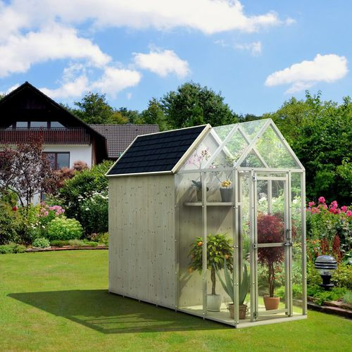 wood frame greenhouse / polycarbonate