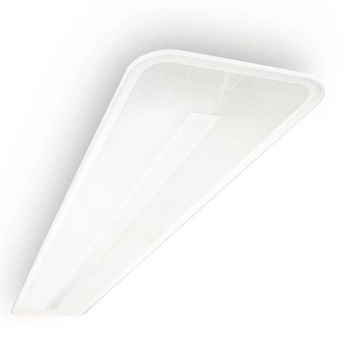 surface-mounted light fixture / LED / linear / sheet metal
