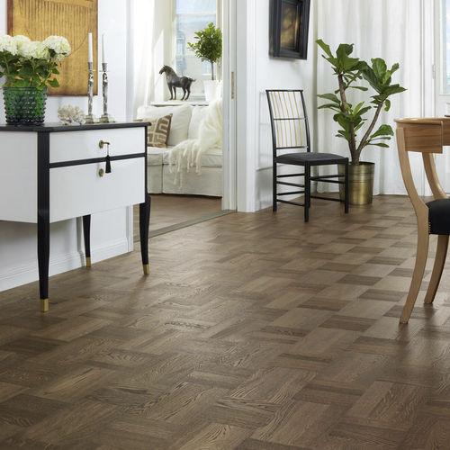 engineered parquet floor / glued / floating / matte finish