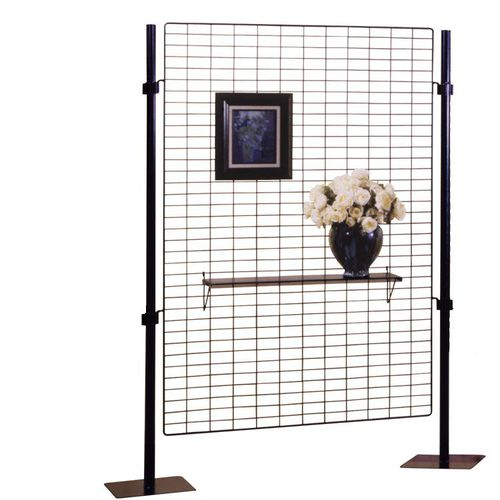 thermo-lacquered steel display grid / commercial