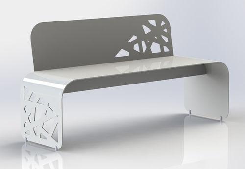 public bench / original design / aluminum / for hospitals