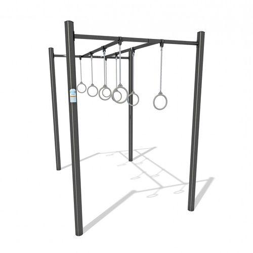 fitness trail ladder / steel / suspension