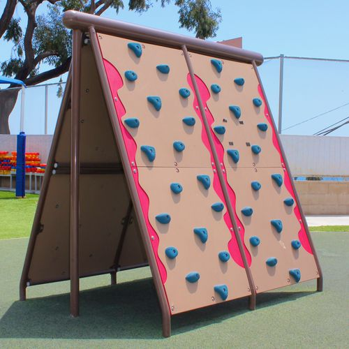 fixed climbing wall / for playgrounds