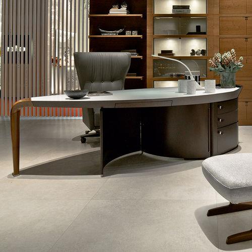 executive desk / walnut / Macassar ebony / contemporary