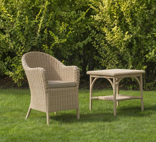traditional garden chair / with armrests / resin wicker