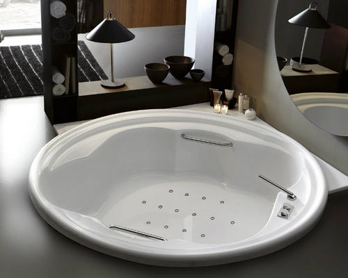 round bathtub / acrylic / double / hydromassage