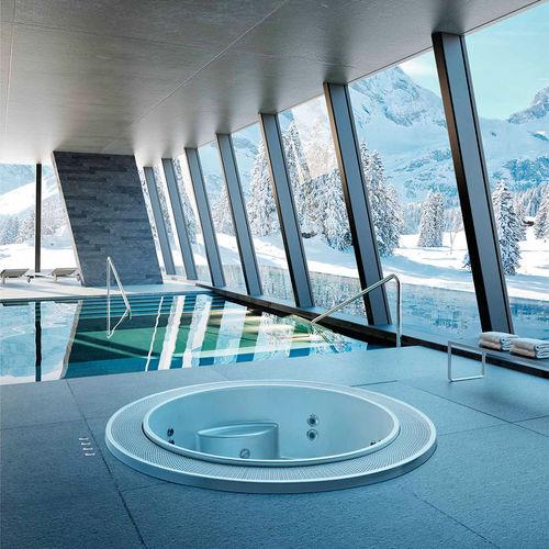 built-in hot tub