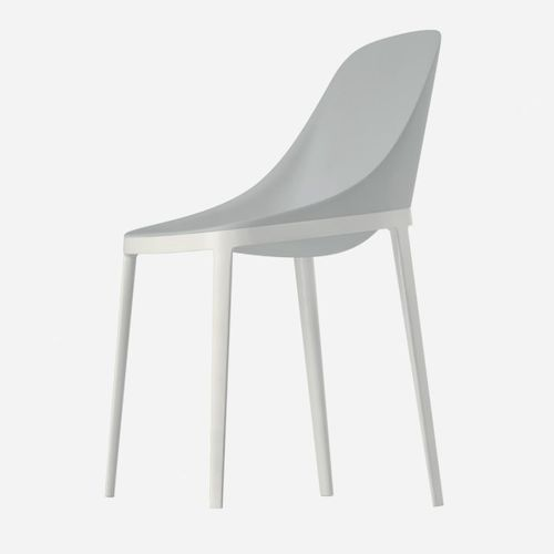 contemporary chair / upholstered / aluminum / polyurethane