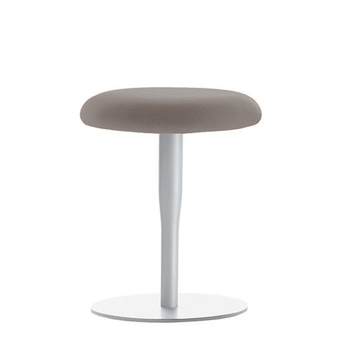 contemporary stool / MDF / fabric / steel
