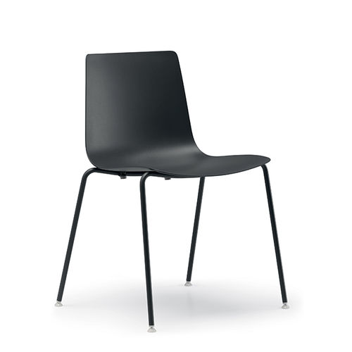 contemporary chair / with armrests / sled base / active ergonomic