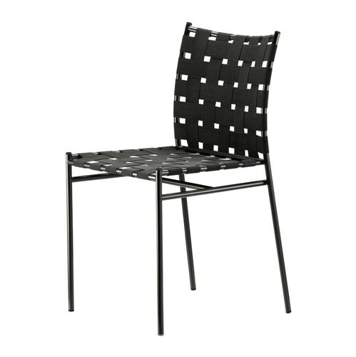 contemporary chair / with armrests / stackable / recyclable