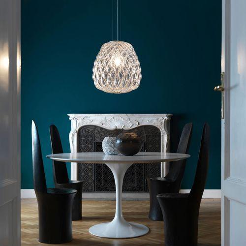 pendant lamp / contemporary / metal / blown glass